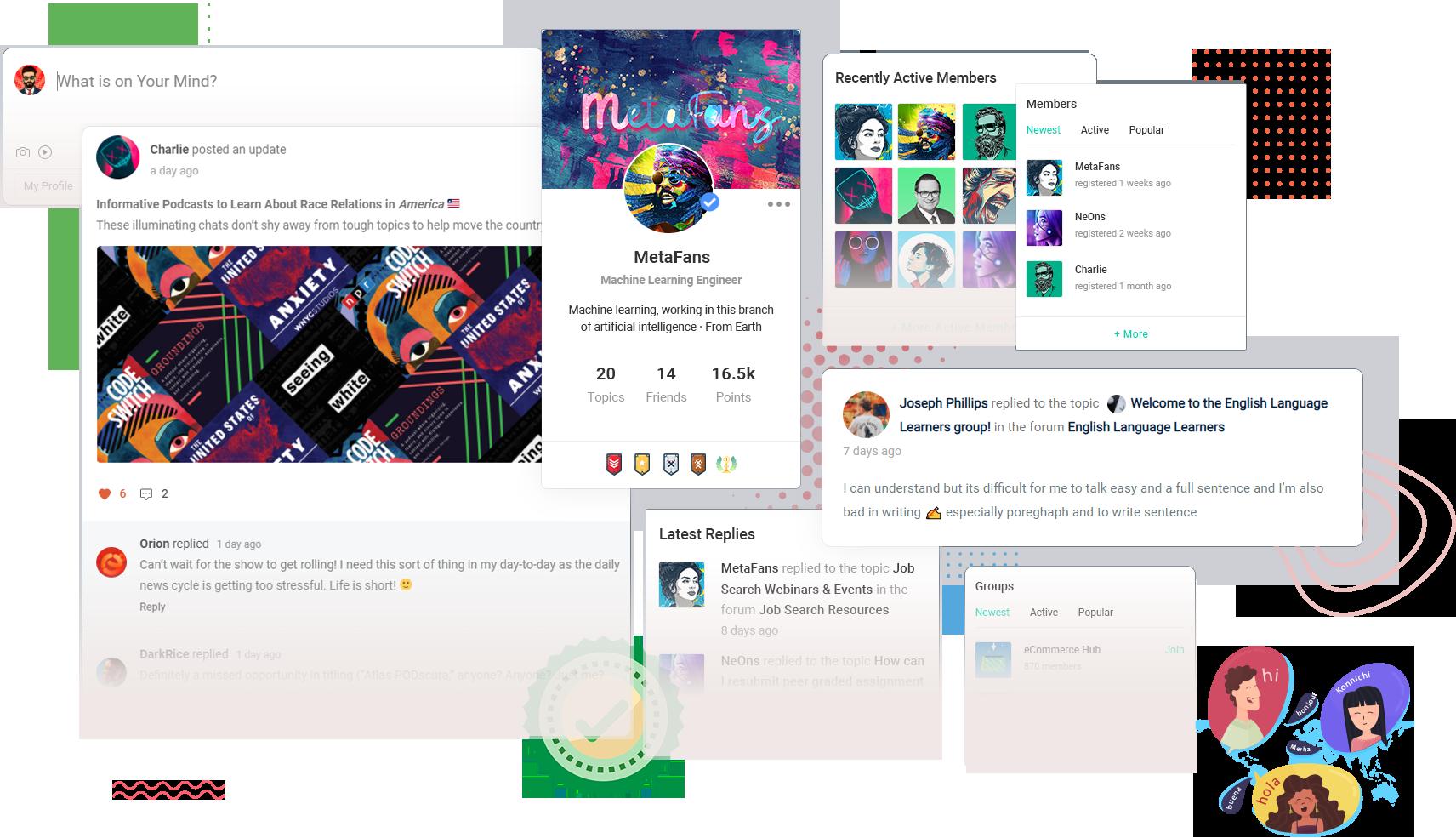 MetaFans – Community & Social Network BuddyPress Theme 2
